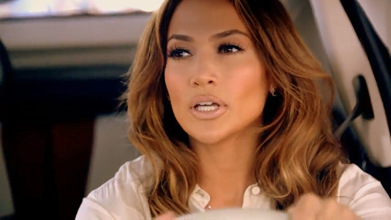 Jennifer Lopez in an ad for the Fiat 500