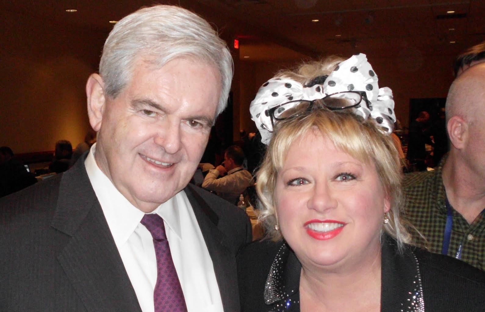 Newt Gingrich & Victoria Jackson