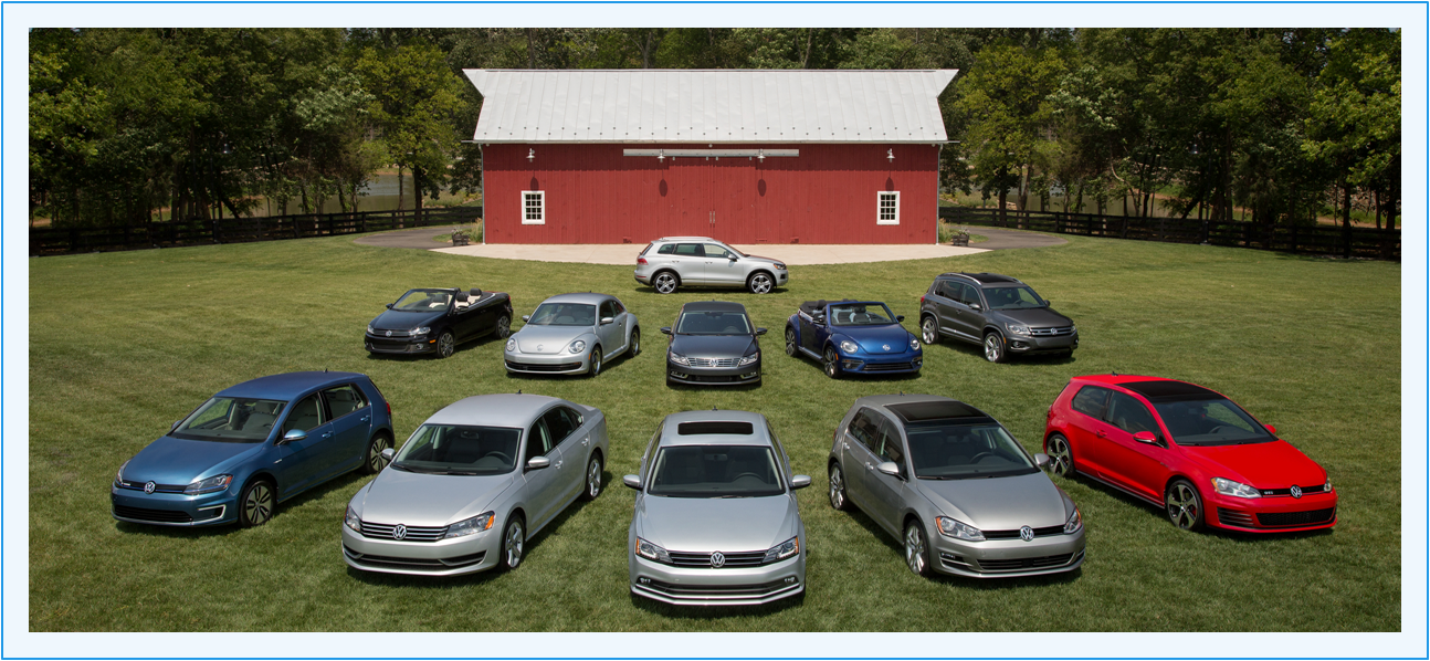 2015 VW lineup with Barn